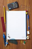 Back To School Pupils Note Pad And Stationary