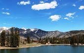 stock photo of mola  - Molas Lake on a beautiful spring day in CO  - JPG