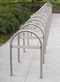Bike Rack, silver metal