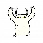 yeti monster cartoon