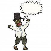 image of tramp  - cartoon crazy tramp - JPG