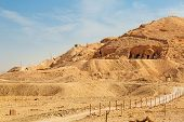 Tombs at the Temple of Queen Hatshepsut  in Egypt