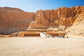 image of hatshepsut  - The Mortuary Temple of Queen Hatshepsut located near the Valley of the Kings in Egypt - JPG