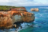 picture of razorback  - One of the famous rocks in the Bay of Islands Coastal ParkGreat Ocean Road Australia - JPG