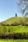 Glastonbury hill Tor Somerset England