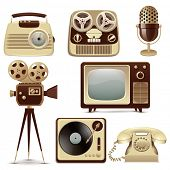picture of magnetic tape  - Retro Media icons - JPG