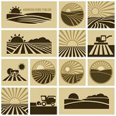 stock photo of farm land  - Agriculture field - JPG
