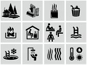 stock photo of sauna  - Sauna icons - JPG