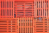 orange wooden pallets background