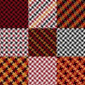 Puzzle Pattern in Red