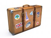 stock photo of porter  - Vintage suitcase - JPG