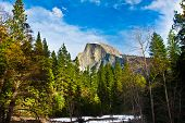 stock photo of granite dome  - Half Dome Rock  - JPG