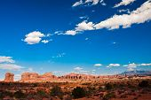 Wild Western Landscape in Arches National Park,Utah