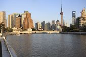 Shanghai Bund of Lujiazui modern city architecture skyline