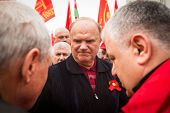 MOSCOW - MAY 1: Gennady Zyuganov (is a Russian politician, First Secretary of the Communist Party of