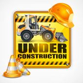 Under Construction Sign Square