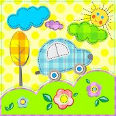 Nature Of Applique Vector Art