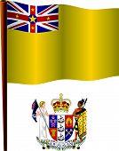 Niue Wavy Flag