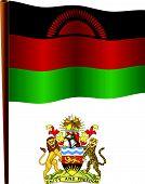 Malawi Wavy Flag