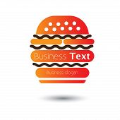 Fast Food Burger Icon For Cafes And Hotels- Vector Illustration