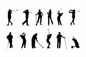 Silhuetas de golfe
