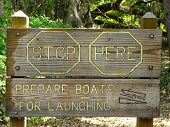 Unique Boat Launch Sign