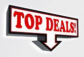 Top Deals Red And Black Arrow Sign
