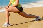 stock photo of stretching  - Sport concept - JPG