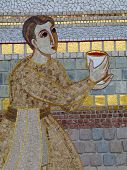 Catholic Mosaic  In Lourdes France