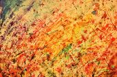 Colorful abstract vintage painting. Natural mixture of colors flow background