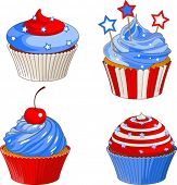 American flag designed patriotic cupcakes
