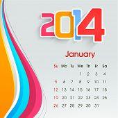 New Year 2014 calendar.