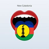 New Caledonia language. Abstract human tongue.