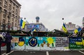 Posters On Maidan In Kiev