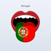 Portugal language. Abstract human tongue.