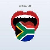 South Africa language. Abstract human tongue.