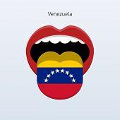 Venezuela language. Abstract human tongue.