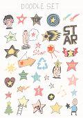 Hand drawn - stars