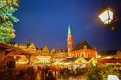 Traditional christmas market in Frankfurt, Germany