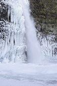 Frozen Pool At Horsetail Falls Oregon