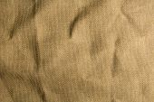 stock photo of sackcloth  - Mint burlap canvas texture for background - JPG