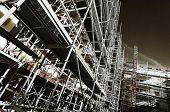 giant scaffolding inside construction industry, special processing concept