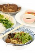 Roast Duck With Noodle In Pot-stewed Soup
