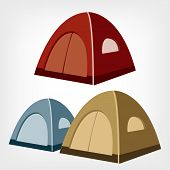 picture of canopy roof  - Camping tent vector - JPG