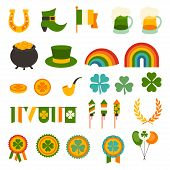 Saint Patrick's Day icons set.