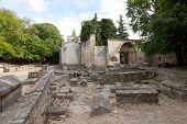 Roman Necropolis (alyscamps) In Arles, France