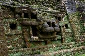 Постер, плакат: Jaguar Temple Lamanai Belize