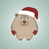Funny hipster wombat