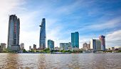 Panoramic view on Business center in Ho Chi Minh City (Saigon), Vietnam.