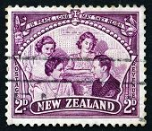 Postage Stamp New Zealand 1946 The Royal Family